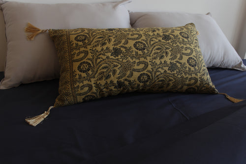 Ethnic Lumbar Pillow Small Yellow