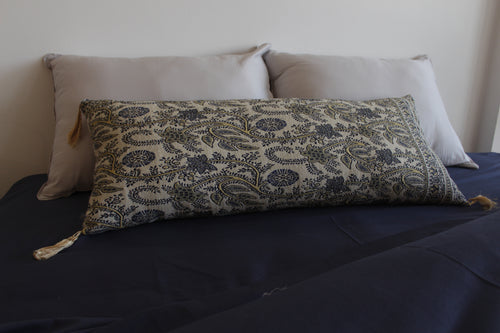 Ethnic Lumbar Pillow Large Grey
