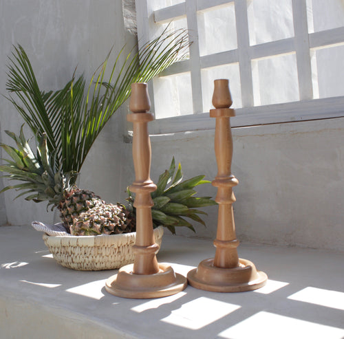 Wooden Candle Holders thin