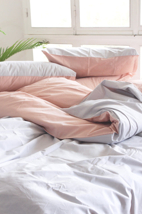 Cotton Percale Mediterranean Duvet Set Double Sided