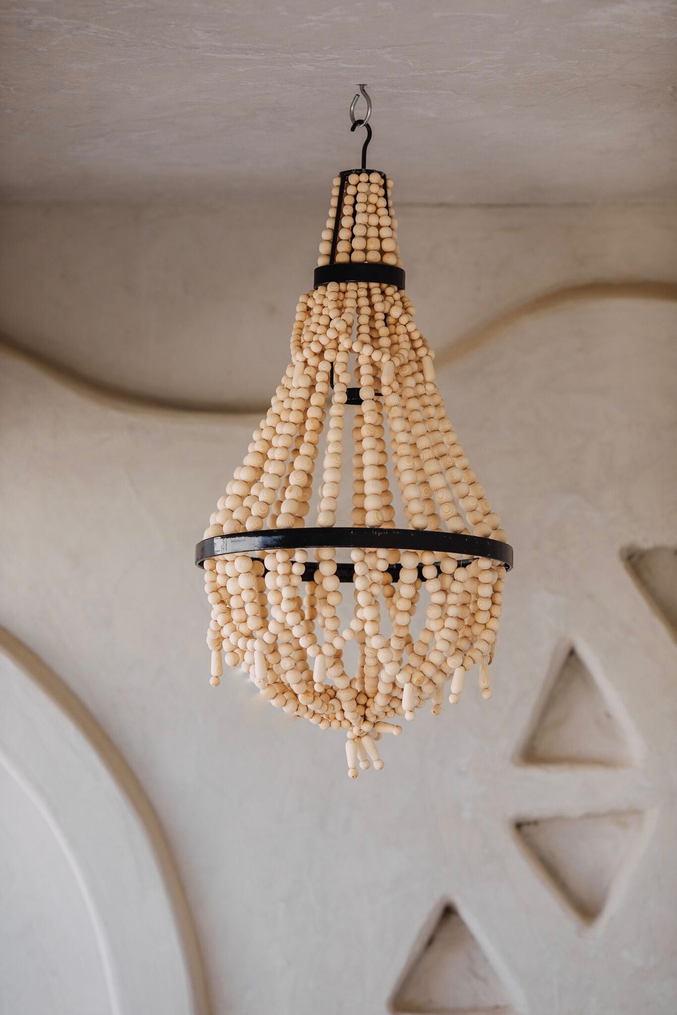 Wood Beads Chandelier