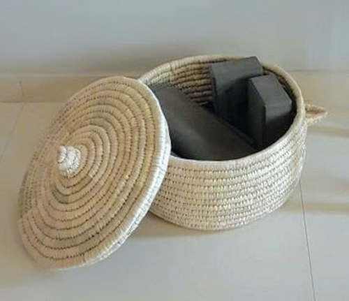 Plain Basket with Lid