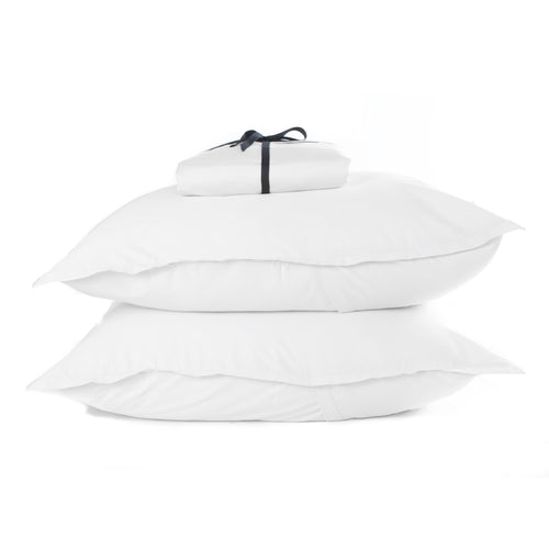 Cotton Sateen Fitted Sheet Set White