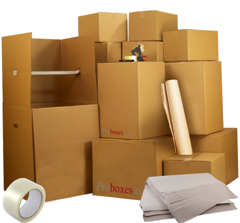 Large Move Pack - 65 Boxes Plus Supplies