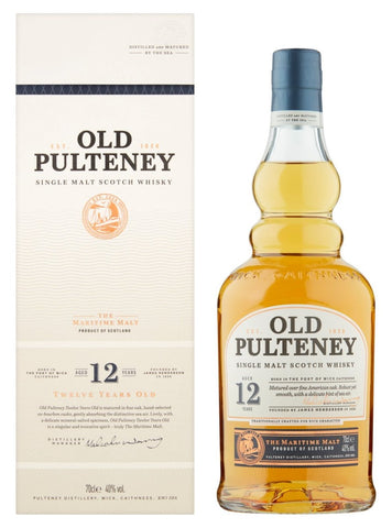 WHISKY PULTENEY OLD 12Y; ML. 700; Astucciato