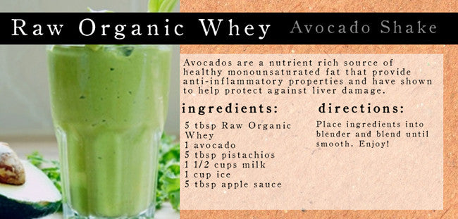 Avocado & Pistachio Shake with Raw Organic Whey