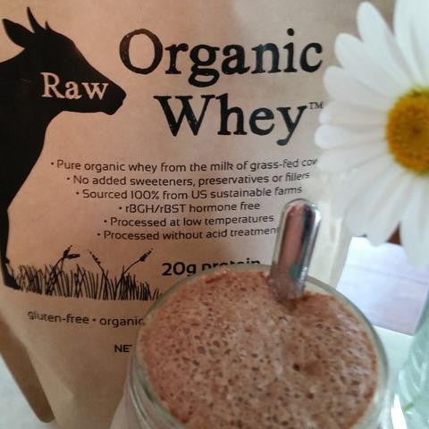 Raw Cacao Peanut Butter Whey Smoothie, YUM!
