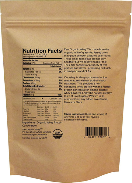 Raw Organic Whey Protein - 12 oz