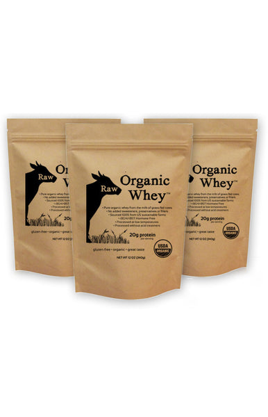 Raw Organic Whey 3 Pack
