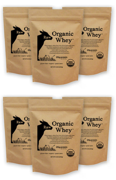 Raw Organic Whey 6 Pack