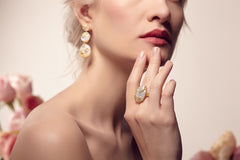 Aceline White Earrings - indulgems - 2
