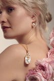Fleur Pink Coin Pearl Earrings - indulgems - 2