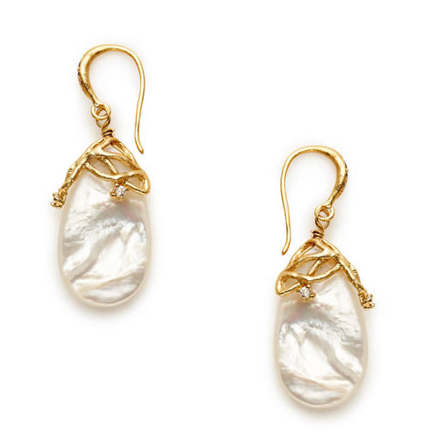 Catalina Mother of Pearl Earrings - indulgems