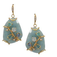 Bellegem Aqua Earrings - indulgems
