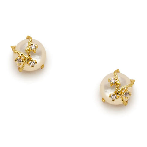 Bella Mother of Pearl Earrings - indulgems