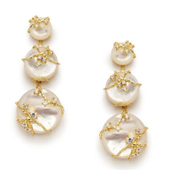 Aceline White Earrings - indulgems - 1