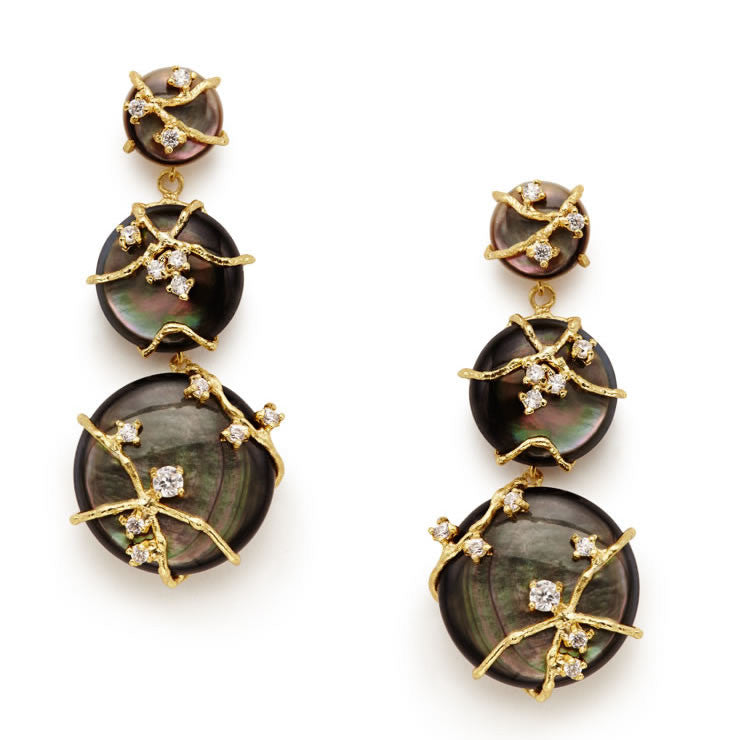 Aceline Black Earrings - indulgems - 1