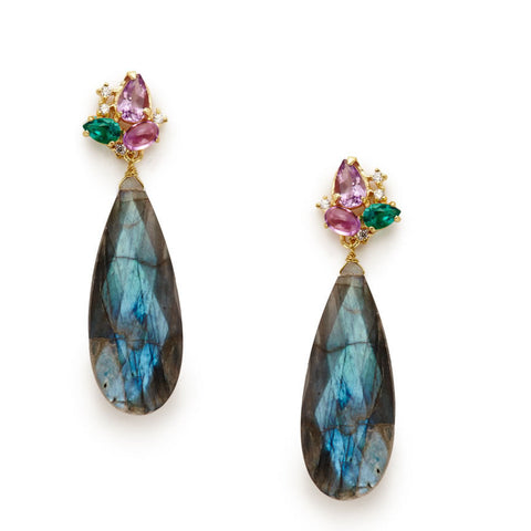 Madaleine Labradorite Earrings - indulgems