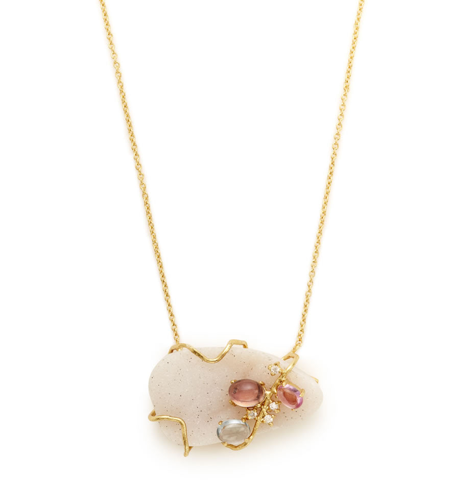 Bellegem Drusy Necklace - indulgems - 2