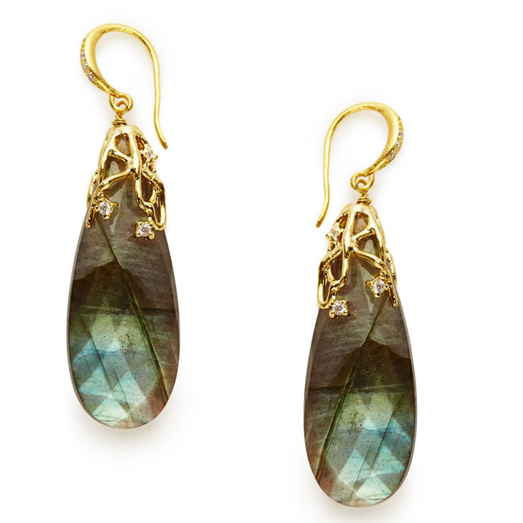 Catalina Labradorite Earrings - indulgems