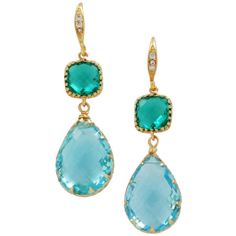 Rock Candy Aqua Seas Earrings - indulgems