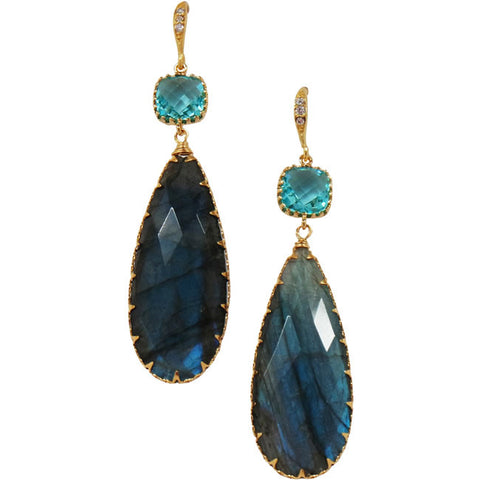 Rock Candy Blue Origins Labradorite Earrings - indulgems