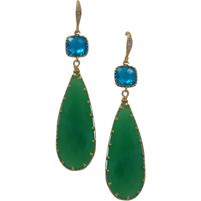 Rock Candy Chrysoprase Glam Earrings - indulgems