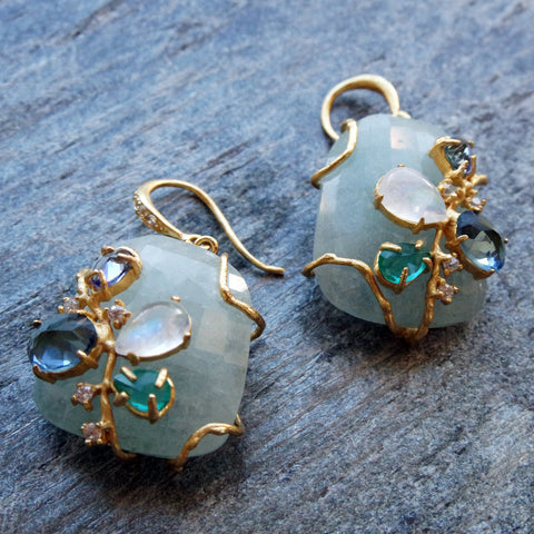Bellegem Aqua Earrings
