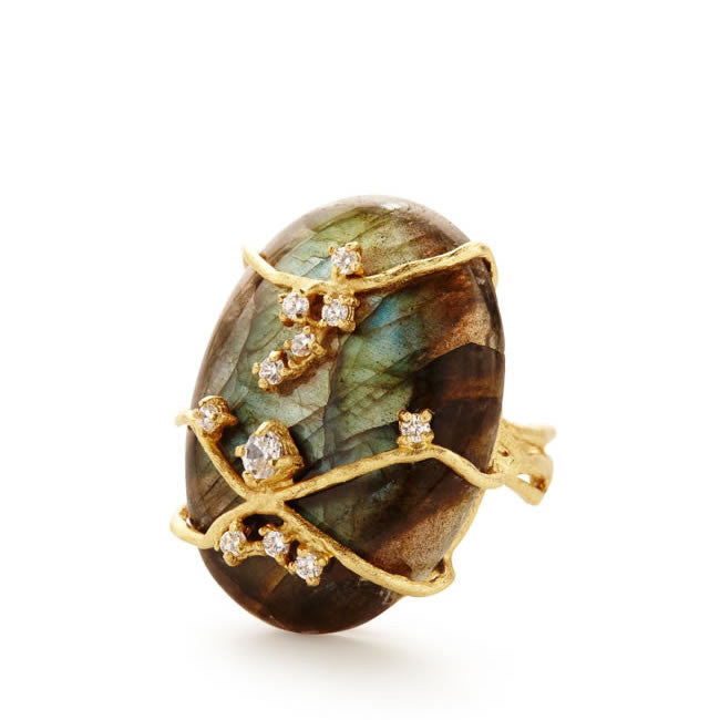 Celeste Labradorite Ring - indulgems - 1