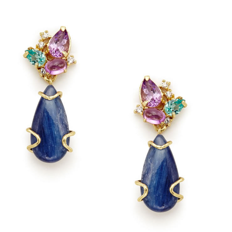 Laci Kyanite Earrings - indulgems