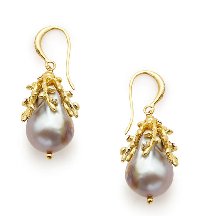 Willow Silver Baroque Earrings - indulgems