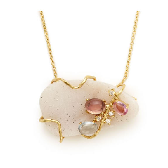 Bellegem Drusy Necklace - indulgems - 1