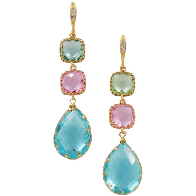 Rock Candy Pastel Palette Earrings - indulgems