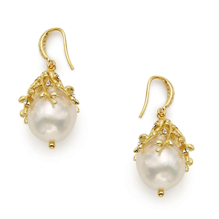 Willow Baroque Pearl Earrings - indulgems