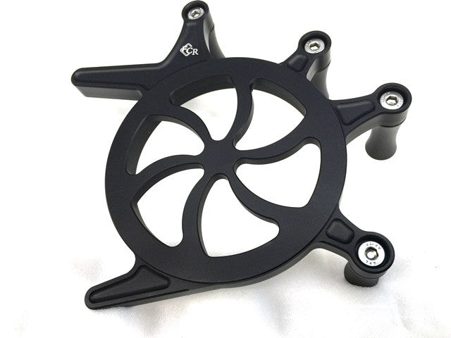 Triumph Front Sprocket Cover - Curved Spoke Design