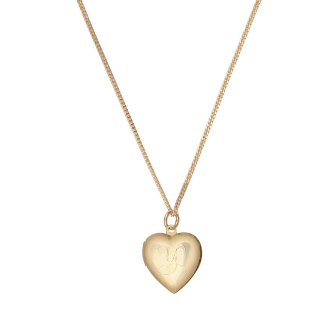 Initial Heart Locket