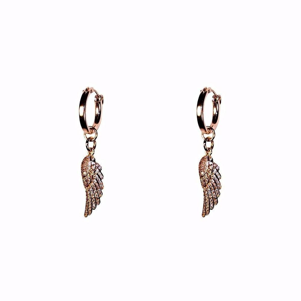 Angel Wing Hoops