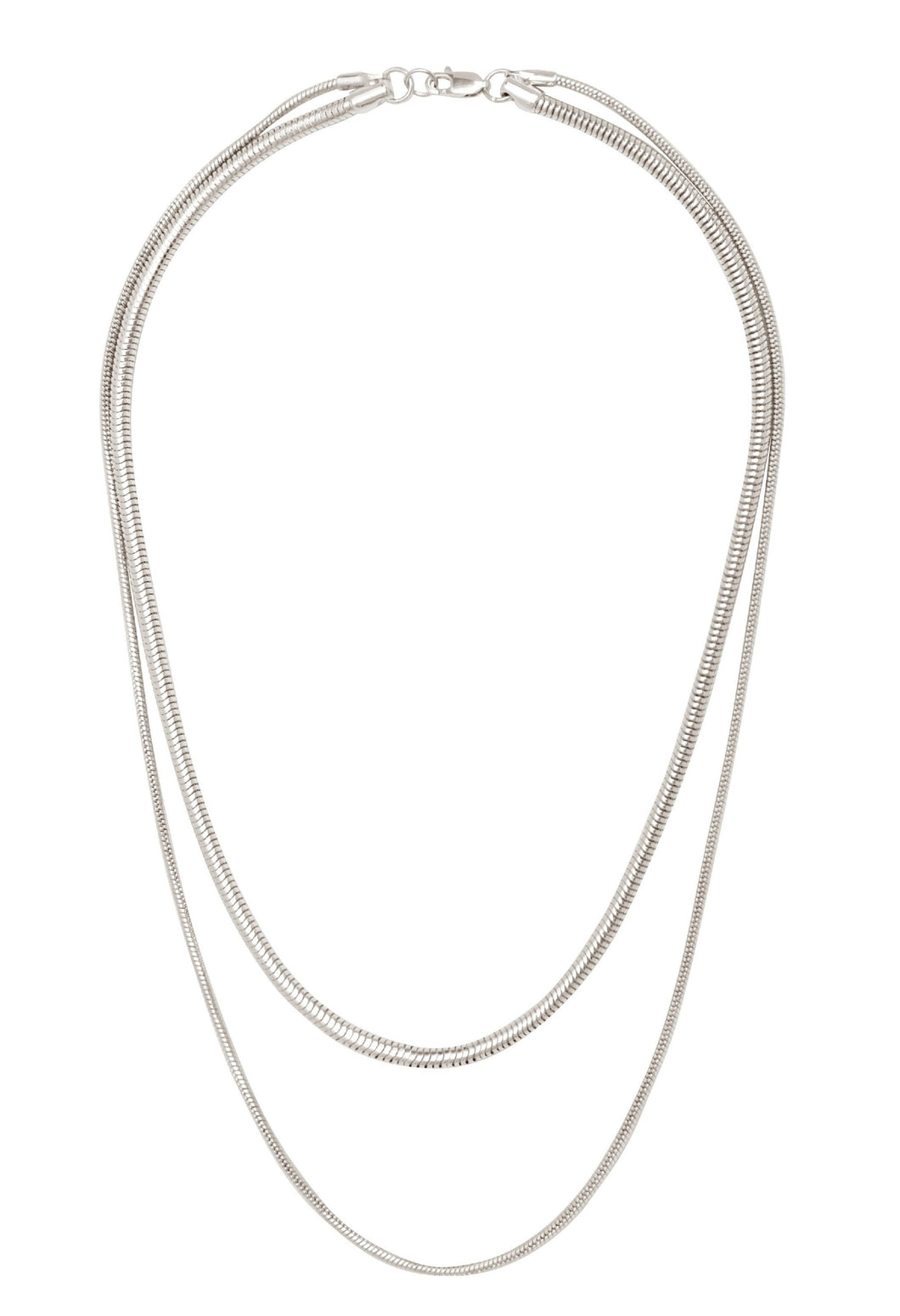 Snake Chain Necklace-Silver