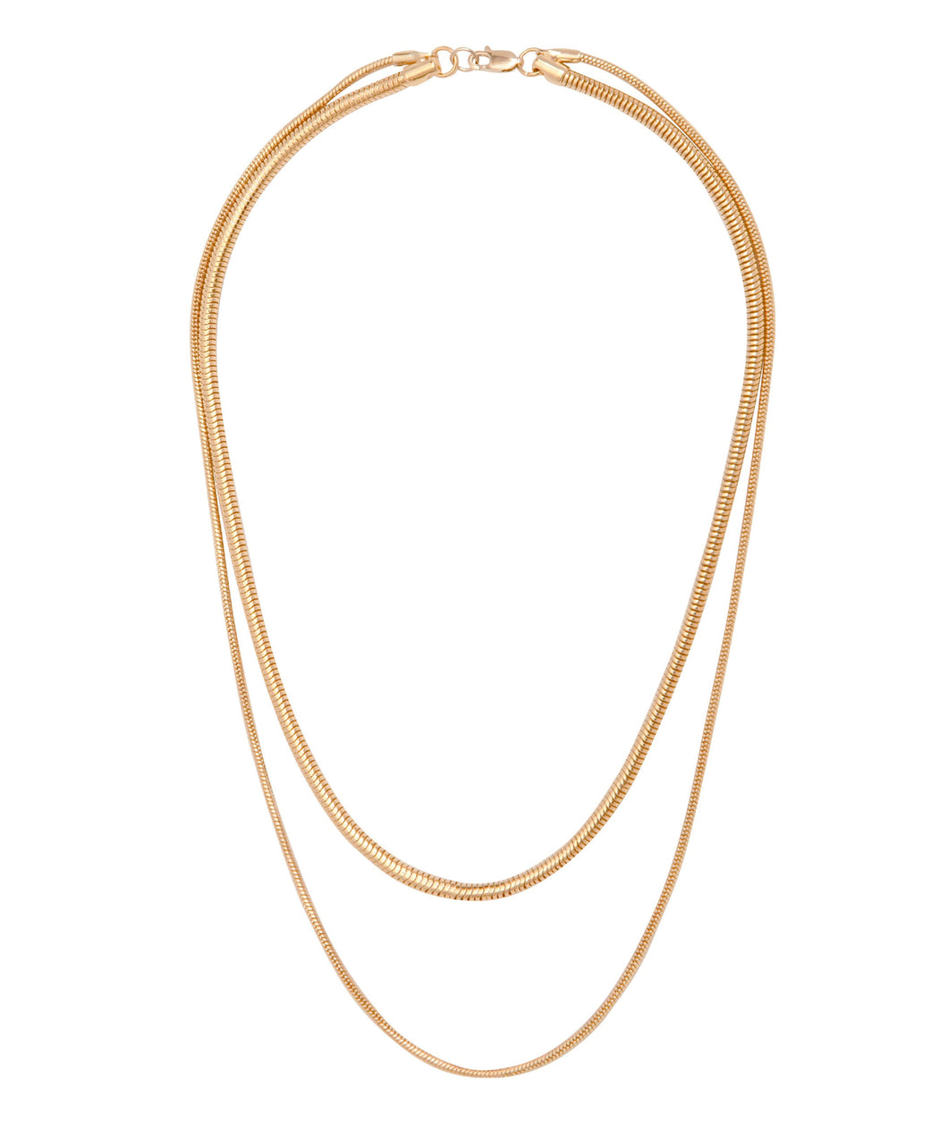 Snake Chain Necklace-Gold