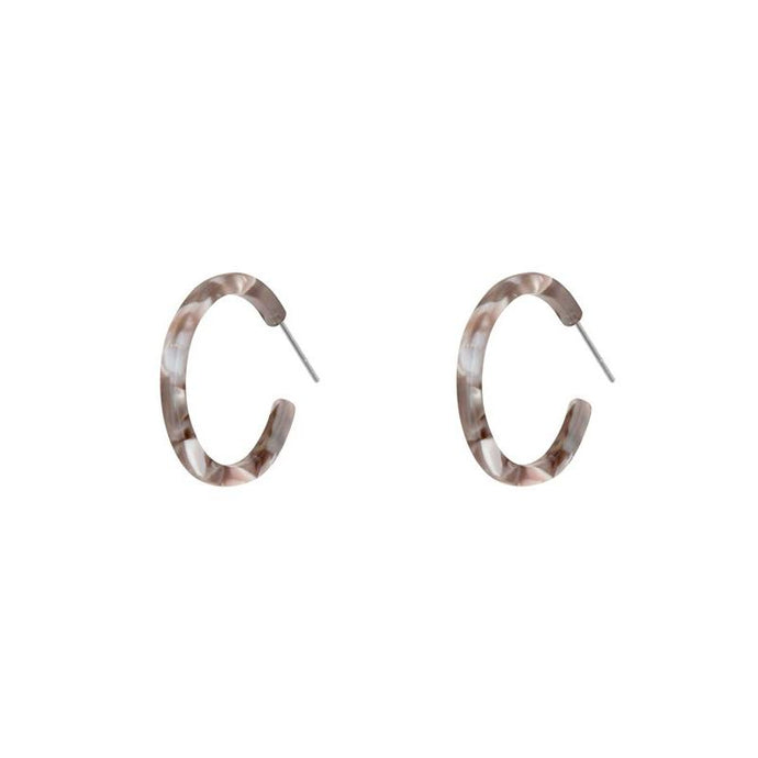 Jenna Resin Hoops-Grey