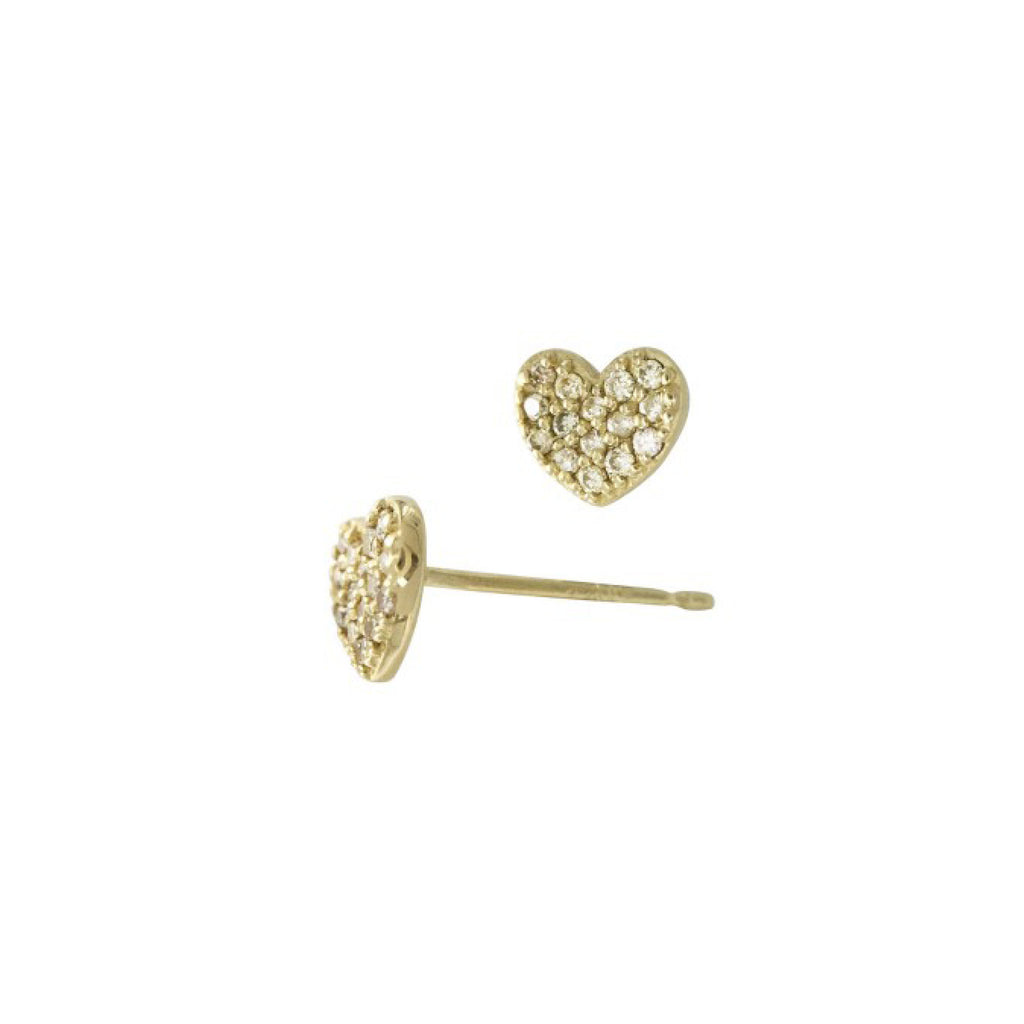 Heart Diamond Studs