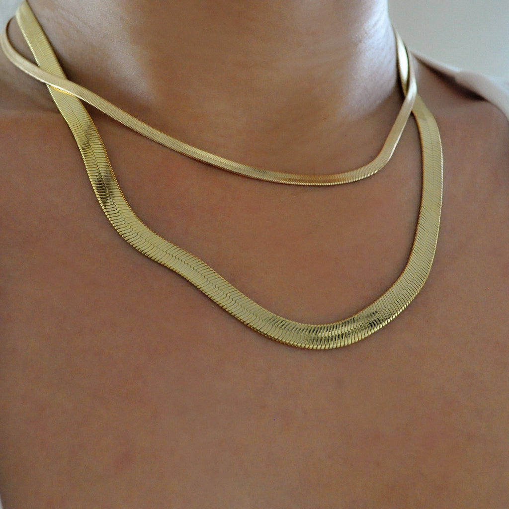 Thick Giovana Herringbone Necklace