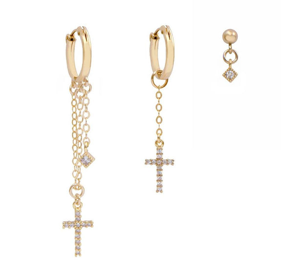 Cross Set Earrings