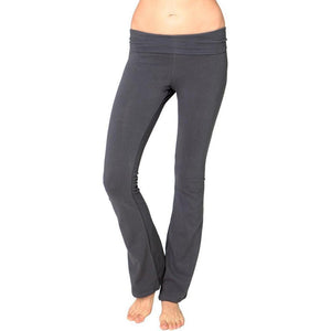 Ladies Cotton/Spandex Foldover Yoga Pants - Yoga Clothing for You