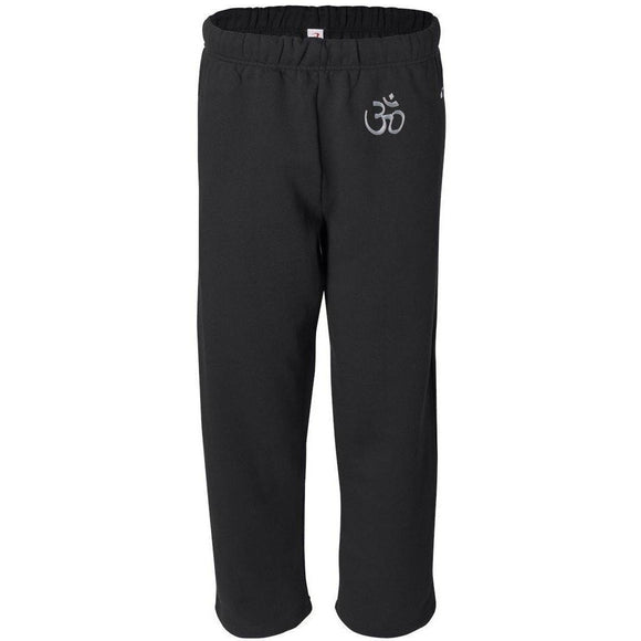 Mens Hindu OM Patch Sweatpants with Pockets - Yoga Clothing for You - 1