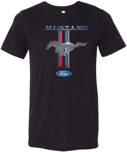Ford Mustang T-shirt Stripe Tri Blend Tee