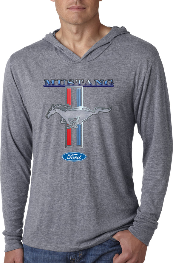 Ford Mustang T-shirt Stripe Lightweight Hoodie