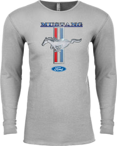 Buy Cool Shirts Ford Mustang T-shirt Stripe Long Sleeve Thermal