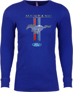 Ford Mustang T-shirt Stripe Long Sleeve Thermal