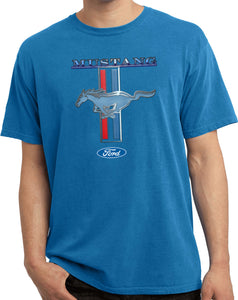 Buy Cool Shirts Ford Mustang T-shirt Stripe Pigment Dyed Tee